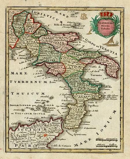 76-Europe, Italy and Balearic Islands Map By Adam Friedrich Zurner / Johann Christoph Weigel
