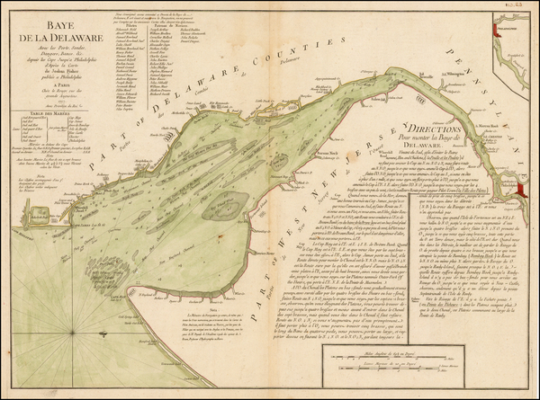 46-Mid-Atlantic and Delaware Map By George Louis Le Rouge