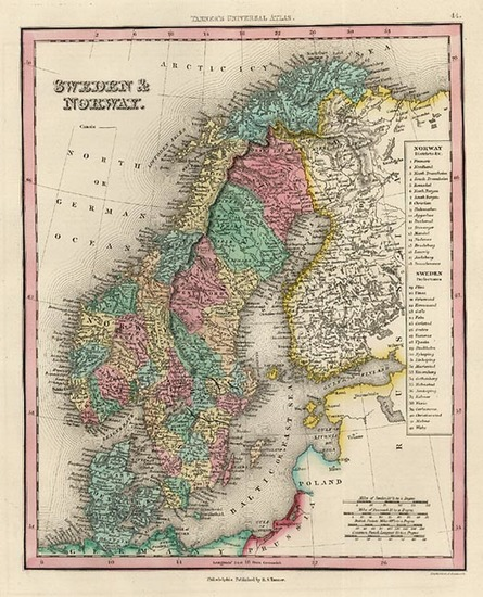 98-Europe and Scandinavia Map By Henry Schenk Tanner