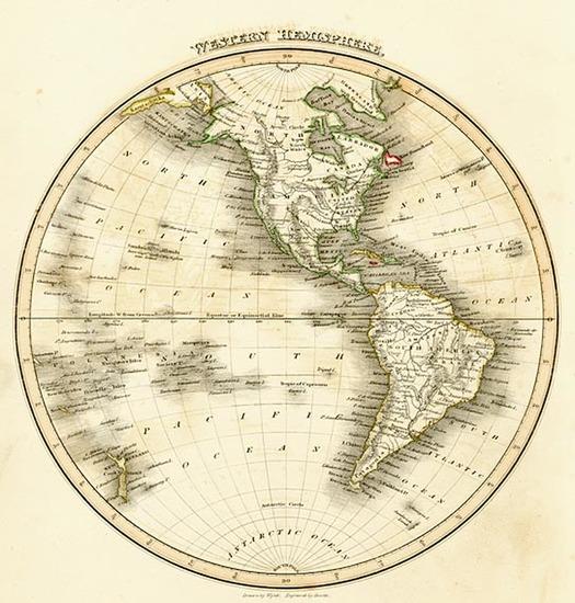 79-World, Western Hemisphere, South America and America Map By John Wyld