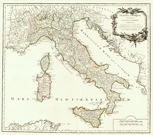 49-Europe and Italy Map By Gilles Robert de Vaugondy
