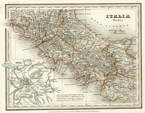 55-Europe and Italy Map By Joseph Meyer