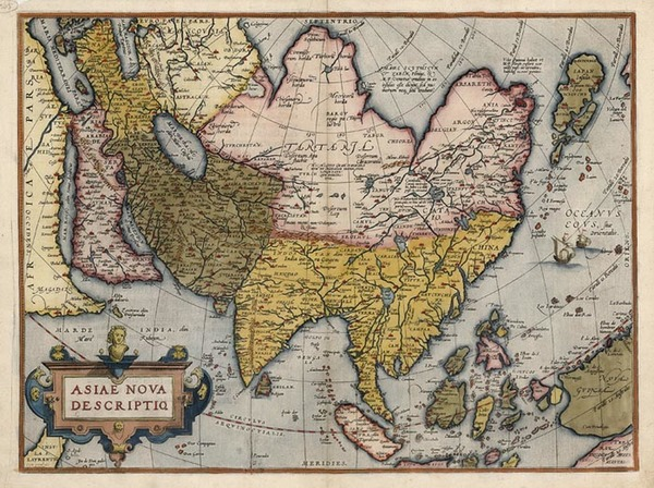 32-Asia, Asia, Australia & Oceania and Oceania Map By Abraham Ortelius