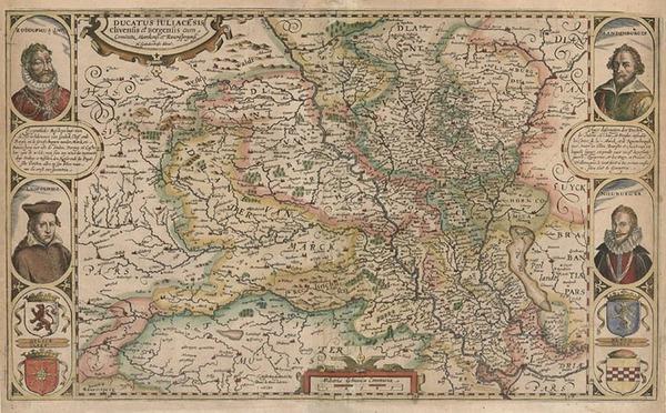 19-Europe, Netherlands and Germany Map By Nicholas Van Geelkercken
