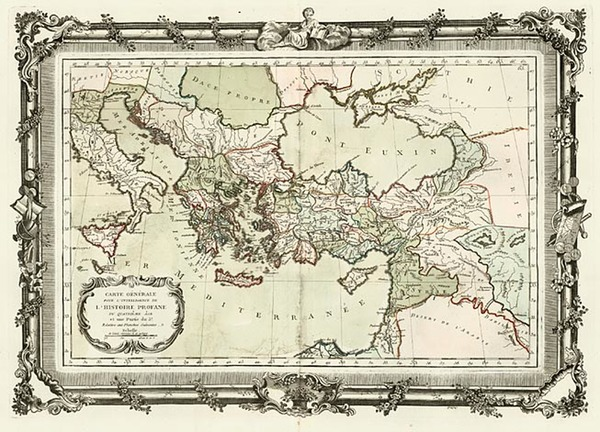 20-Europe, Italy, Greece, Mediterranean, Asia and Turkey & Asia Minor Map By Buy de Mornas