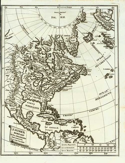 28-United States, Midwest, North America and Canada Map By Heinrich Scherer