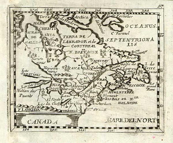 92-New England, Midwest and Canada Map By Johann Christoph Beer