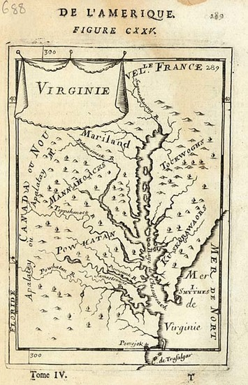 32-Mid-Atlantic and Southeast Map By Alain Manesson Mallet