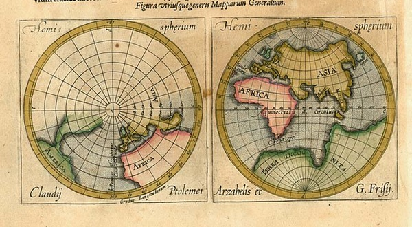 66-World, World and Eastern Hemisphere Map By Abraham Ortelius