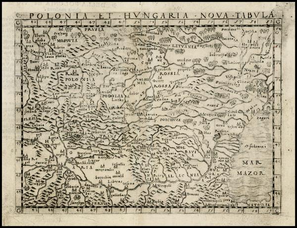 2-Poland, Hungary, Baltic Countries and Balkans Map By Giacomo Gastaldi