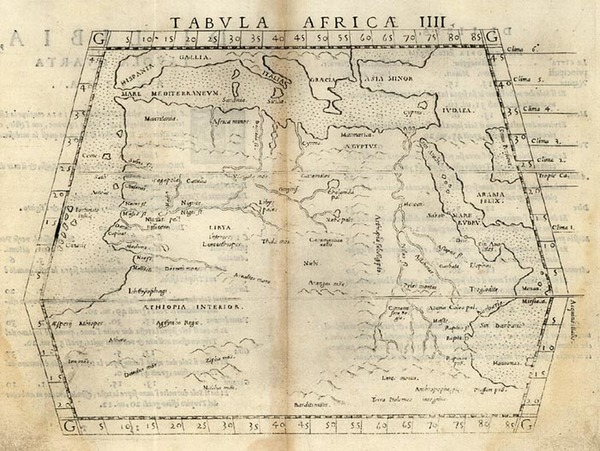 37-Asia, Middle East, Africa, North Africa, East Africa and West Africa Map By Girolamo Ruscelli