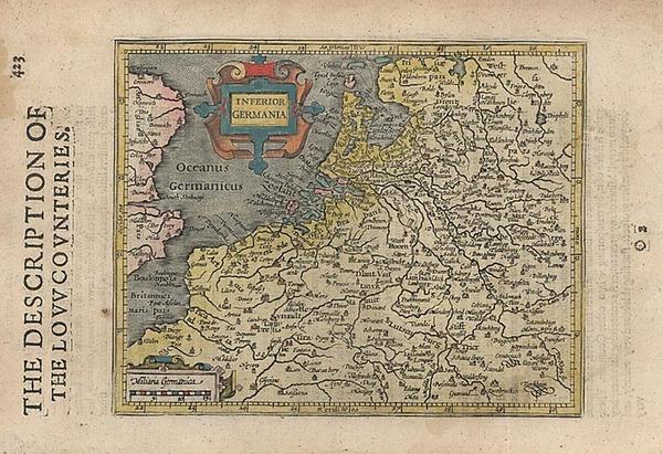 33-Europe, Netherlands and Germany Map By Jodocus Hondius - Michael Mercator