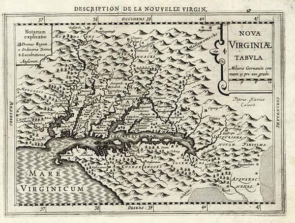 99-Mid-Atlantic and Southeast Map By Johannes Cloppenburg