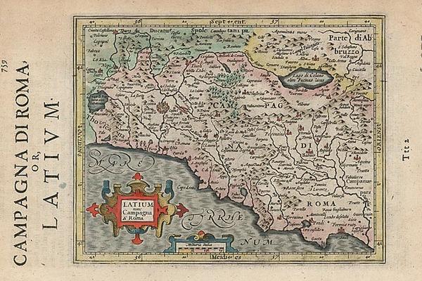 49-Europe and Italy Map By Henricus Hondius - Gerhard Mercator