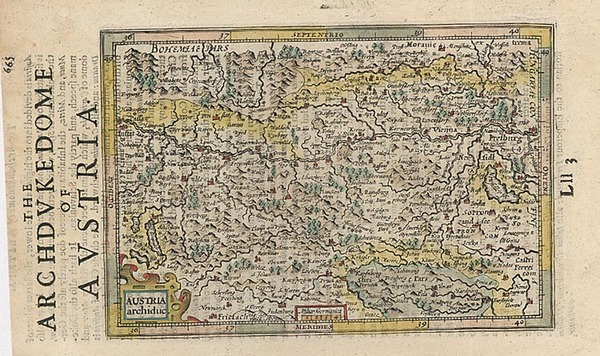 34-Europe and Austria Map By Henricus Hondius - Gerhard Mercator