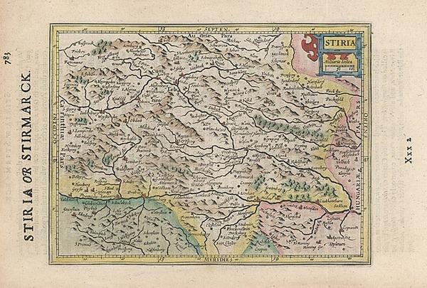 48-Europe, Austria and Balkans Map By Henricus Hondius - Gerhard Mercator