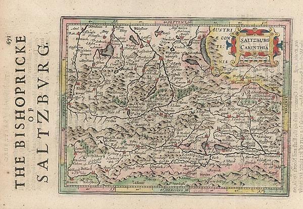 34-Europe, Austria and Balkans Map By Henricus Hondius - Gerhard Mercator