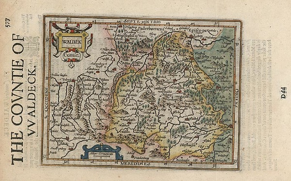 62-Europe, Germany and Poland Map By Henricus Hondius - Gerhard Mercator