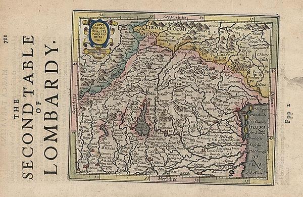 44-Europe and Italy Map By Henricus Hondius - Gerhard Mercator