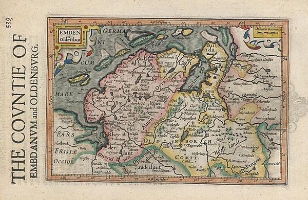 50-Europe, Netherlands and Germany Map By Henricus Hondius - Gerhard Mercator