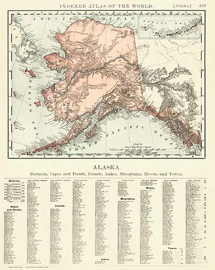 12-Alaska Map By Rand McNally & Company