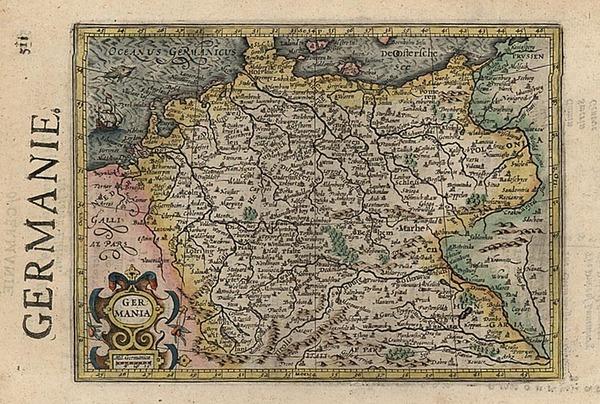 17-Europe and Germany Map By Henricus Hondius - Gerhard Mercator