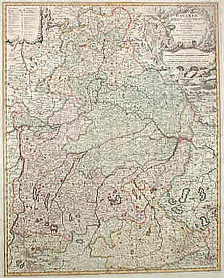 10-Europe, Germany and Austria Map By Johann Baptist Homann