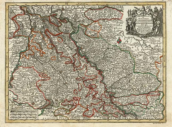 40-Europe and Germany Map By Matthaus Seutter