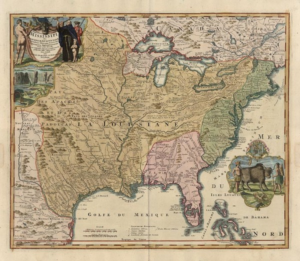 98-United States, South, Southeast and Midwest Map By Johann Baptist Homann