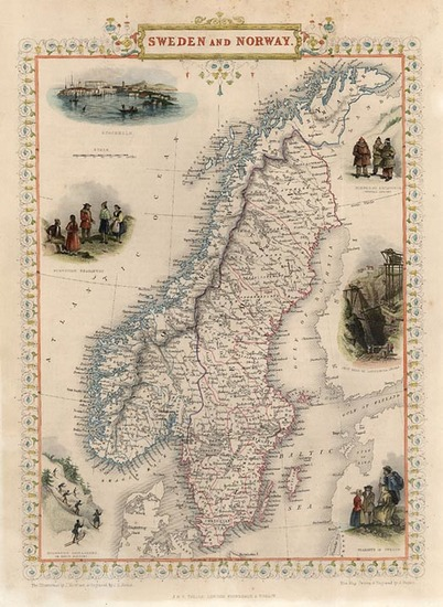 27-Scandinavia Map By John Tallis