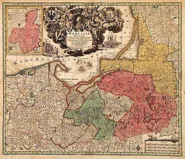 18-Europe and Germany Map By Johann Baptist Homann