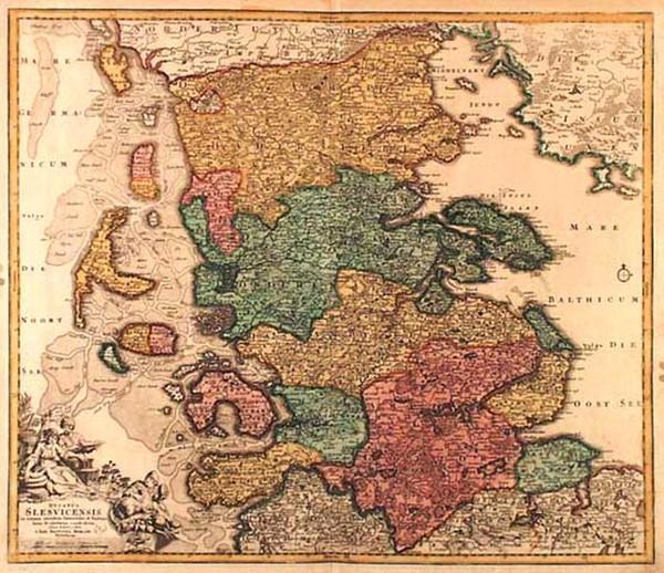 21-Europe, Germany and Scandinavia Map By Johann Baptist Homann