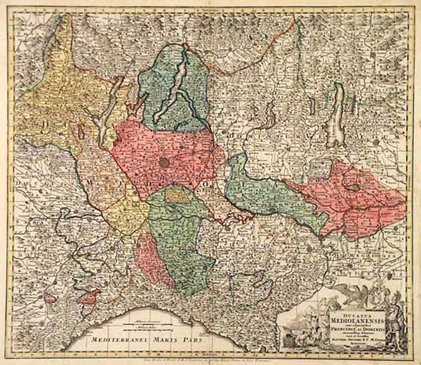 34-Europe and Italy Map By Matthaus Seutter