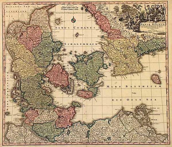 45-Europe and Scandinavia Map By Matthaus Seutter