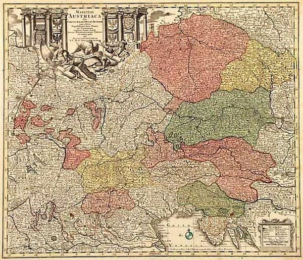 17-Europe, Austria, Hungary, Czech Republic & Slovakia and Balkans Map By Matthaus Seutter