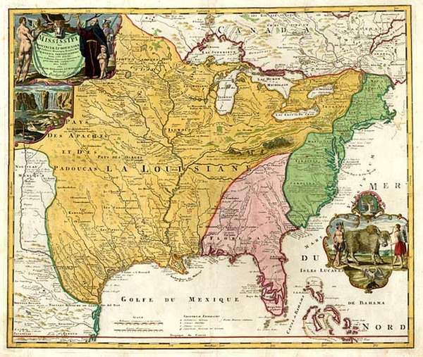 55-United States, South, Southeast and Midwest Map By Johann Baptist Homann