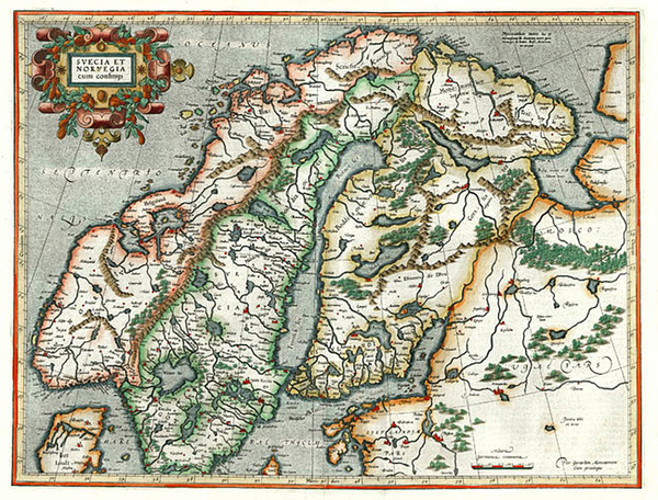 23-Europe and Scandinavia Map By Gerhard Mercator