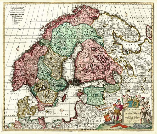 65-Europe, Baltic Countries and Scandinavia Map By Johannes Covens  &  Cornelis Mortier