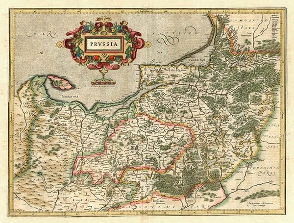 75-Europe, Germany, Poland and Baltic Countries Map By Jodocus Hondius - Mercator