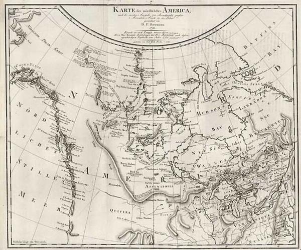 3-Midwest, Alaska and Canada Map By Daniel Friedrich Sotzmann