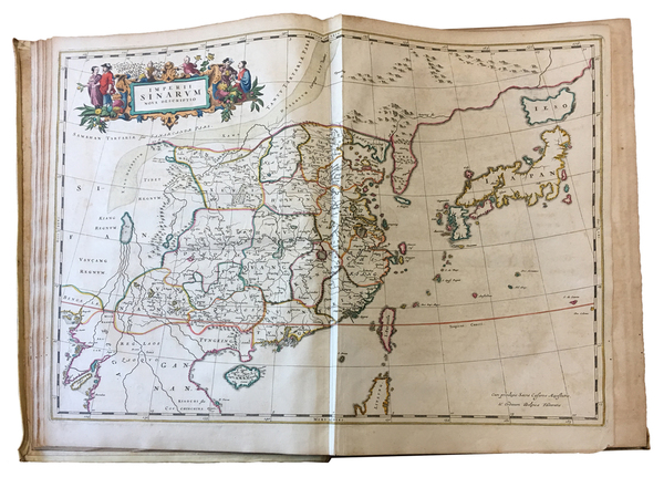 58-China, Japan, Korea and Atlases Map By Johannes Blaeu / Martinus Martini