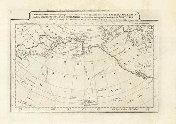 35-World, Polar Maps, Alaska and Pacific Map By Mathew Carey