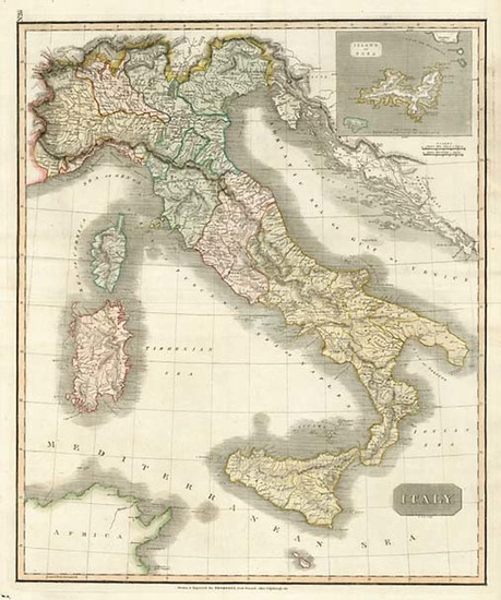 39-Europe, Italy and Balearic Islands Map By John Thomson