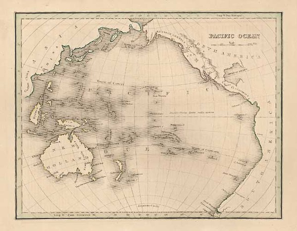 97-World, Australia & Oceania, Pacific, Australia, Oceania and Other Pacific Islands Map By Th