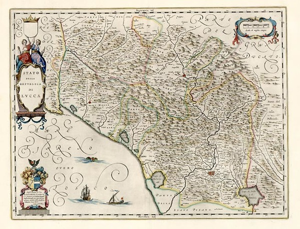 59-Europe and Italy Map By Willem Janszoon Blaeu