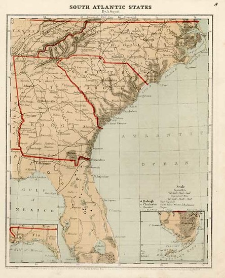 39-Southeast Map By A. Guyot