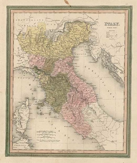 89-Europe and Italy Map By Henry Schenk Tanner