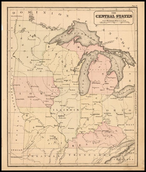 57-Midwest and Plains Map By Rand McNally & Company