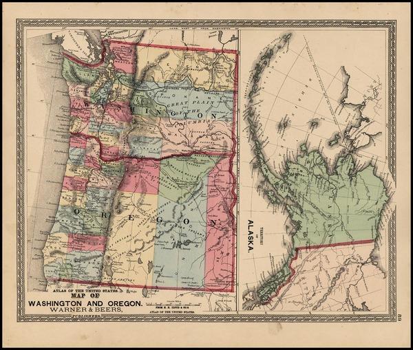 41-Alaska Map By Warner & Beers