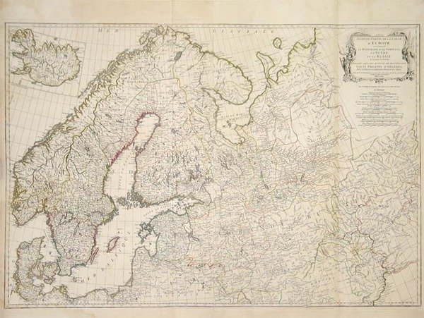 25-Europe, Russia, Baltic Countries and Scandinavia Map By Jean-Baptiste Bourguignon d'Anville